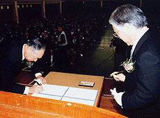 韓国廣文高等学校と姉妹校締結