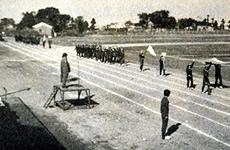 開校当時の体育大会(魚津市吉田グランドにて)